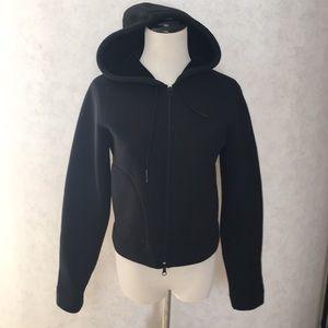 Ralph Lauren Sport Black Velvet Lined Zip Jacket S